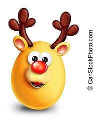 Whimsical Christmas Reindeer
