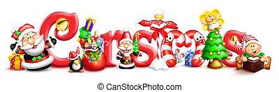 Whimsical Christmas Word