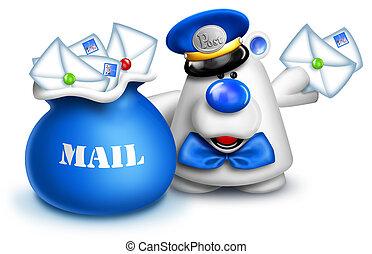 Whimsical Polar Bear Mailman