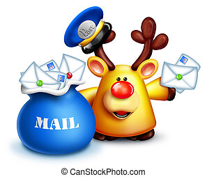 Whimsical Reindeer Mailman