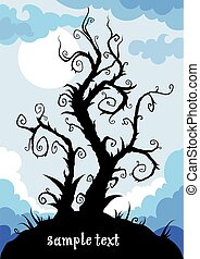 whimsical tree with space for text