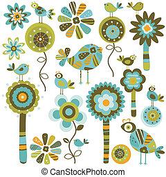 whimsy, fiori