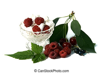 whipped cream with fruits