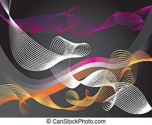 Whirl and Swirl - Colored swirls and loops are featured in...