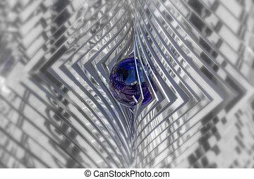 whirligig, closeup