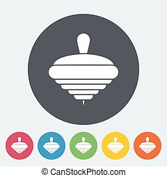 Whirligig icon. Flat vector related icon for web and mobile...