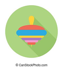 Whirligig icon. Flat vector related icon with long shadow...