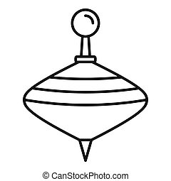 Whirligig icon, outline style