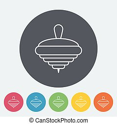 Whirligig icon. Thin line flat vector related icon for web...