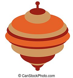 Whirligig toy flat illustration on white. Lifestyle, kids...