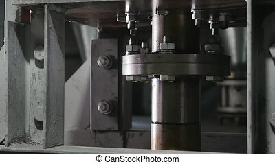 Whirling tube with a circular clamp working in a machinery...