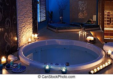 Whirlpool and sauna. Concept of self-care, health and...