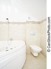 whirlpool, banho, em, luxo, banheiro