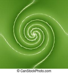 whirlpool green background