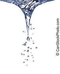 Whirlpool in blue water. 3d rendering