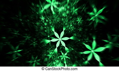 Whirlpool Of Green Flowers - floral background, green...