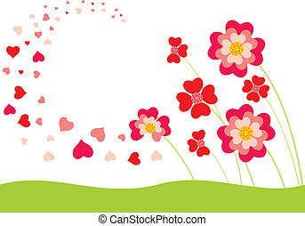 Whirlwind of hearts - The flower petals in the form of ...