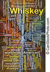Whiskey background concept glowing