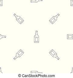 Whiskey bottle icon, outline style