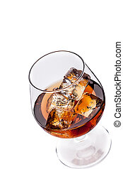 Whiskey / Cognac with Ice Cubes