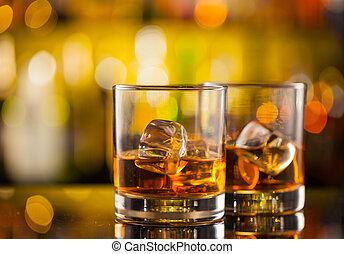 whiskey, disk, hinder, drycken