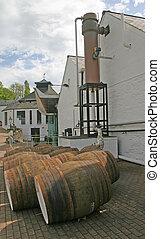 Whiskey Distillery in Scotland