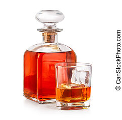 Whiskey drinks with bottle