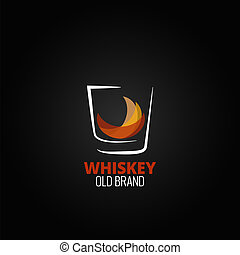 whiskey glass splash design background 10 eps version