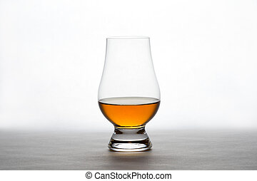 Whiskey in a Crystal Tasting Glass - Single backlit crystal ...