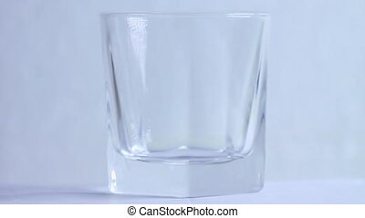 whiskey in a glass with ice