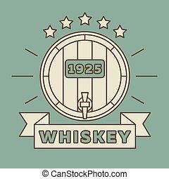 Whiskey logo design - vintage whisky label