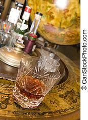 Whiskey on drinks globe