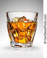 Whiskey on gray