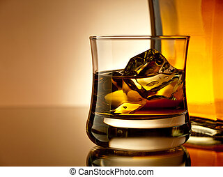 Whiskey on the rocks - Old fashion whiskey on the rocks