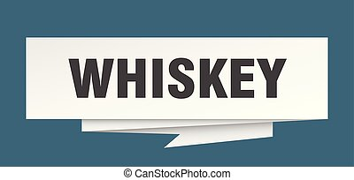 whiskey sign. whiskey paper origami speech bubble. whiskey...
