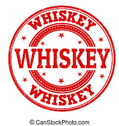 Whiskey stamp - Whiskey grunge rubber stamp on white, vector...
