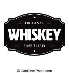 Whiskey vintage stamp sign