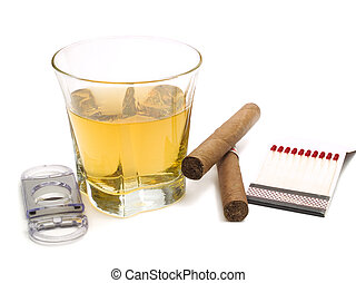 Whiskey with cigars