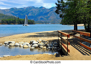 Whiskeytown Lake, California - Whiskeytown Lake located east...