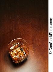 whisky, és, copyspace