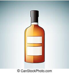 whisky americano, botella