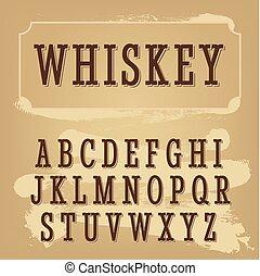 whisky, beige, font