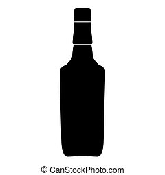 Whisky black color icon .
