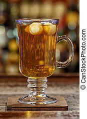 whisky, boisson chaude, basé