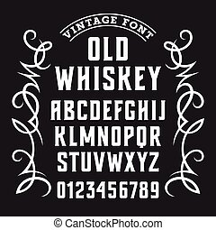 whisky, chrzcielnica, etykieta, 002