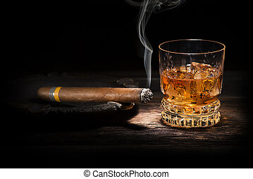 whisky, cigare