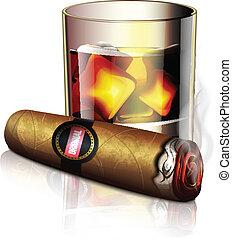 whisky, cigarro, icono