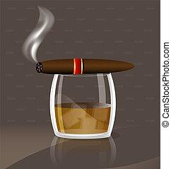 whisky, cigarro