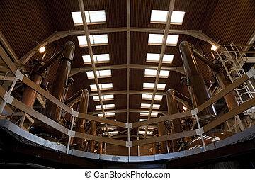 Whisky Distillery interior