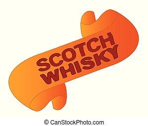whisky, escocés, rúbrica, alcohol